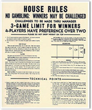 Game Rules Laminated Posters