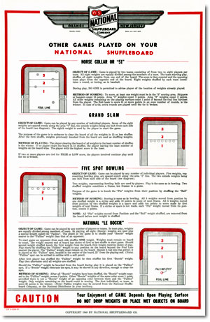 National Shuffleboard Rules Other Games poster